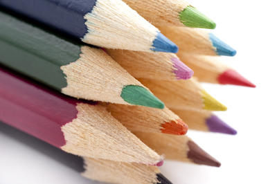 Colouring pencils closeup
